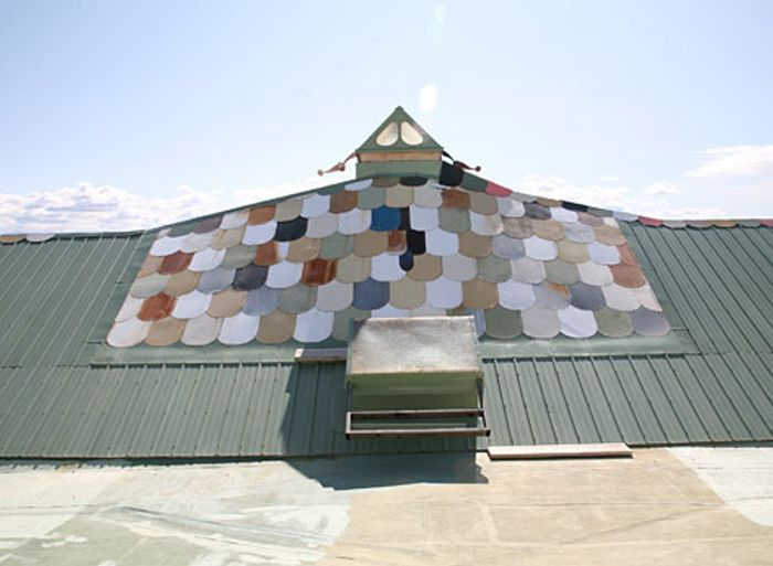 "The ""Phoenix Earthship's"" roof"