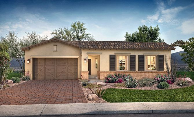 Plan 5014 Exterior B: Adobe Ranch