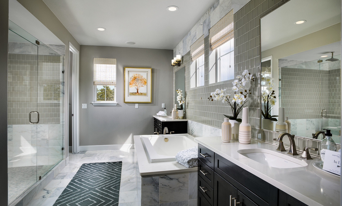 Whispering Pines Woodlands Bristlecone Master Bath
