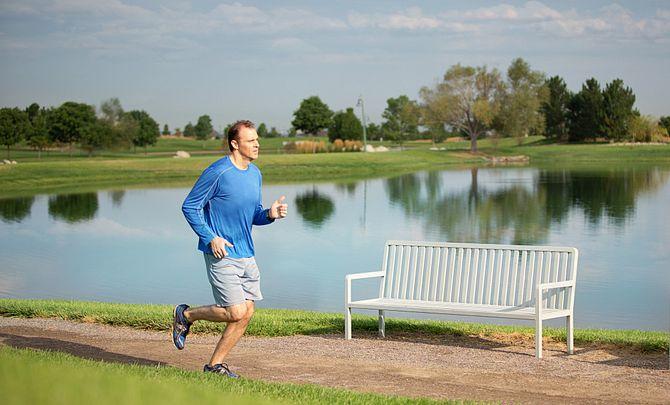 Reunion Community Man Jogging Trails