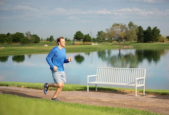 Reunion Community Man Running Trails