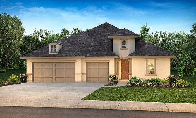 Plan 5029 Elevation C: French Country
