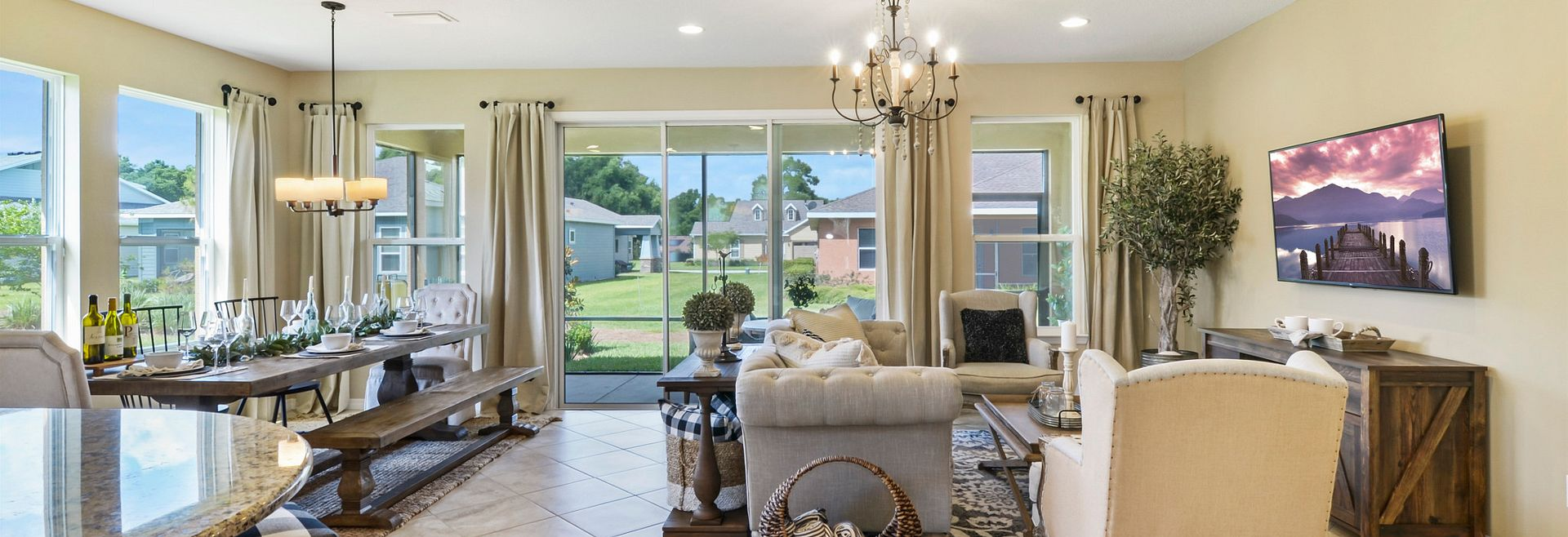 Ocala Delcare Model Home Great Room