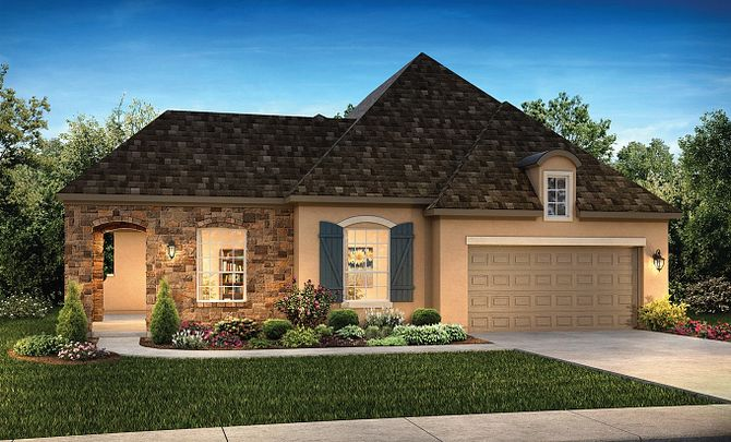 Plan 5128 Elevation C: French Country