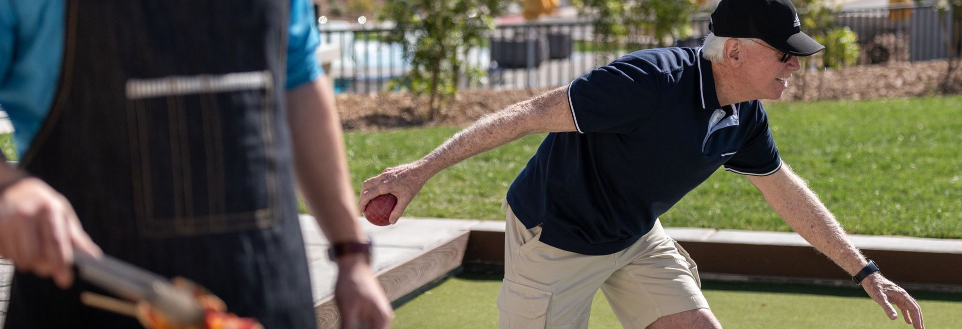 Trilogy Summerlin Homeowner Playing Bocce Ball
