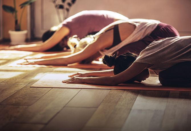 Homeowners Enjoying Yoga Class