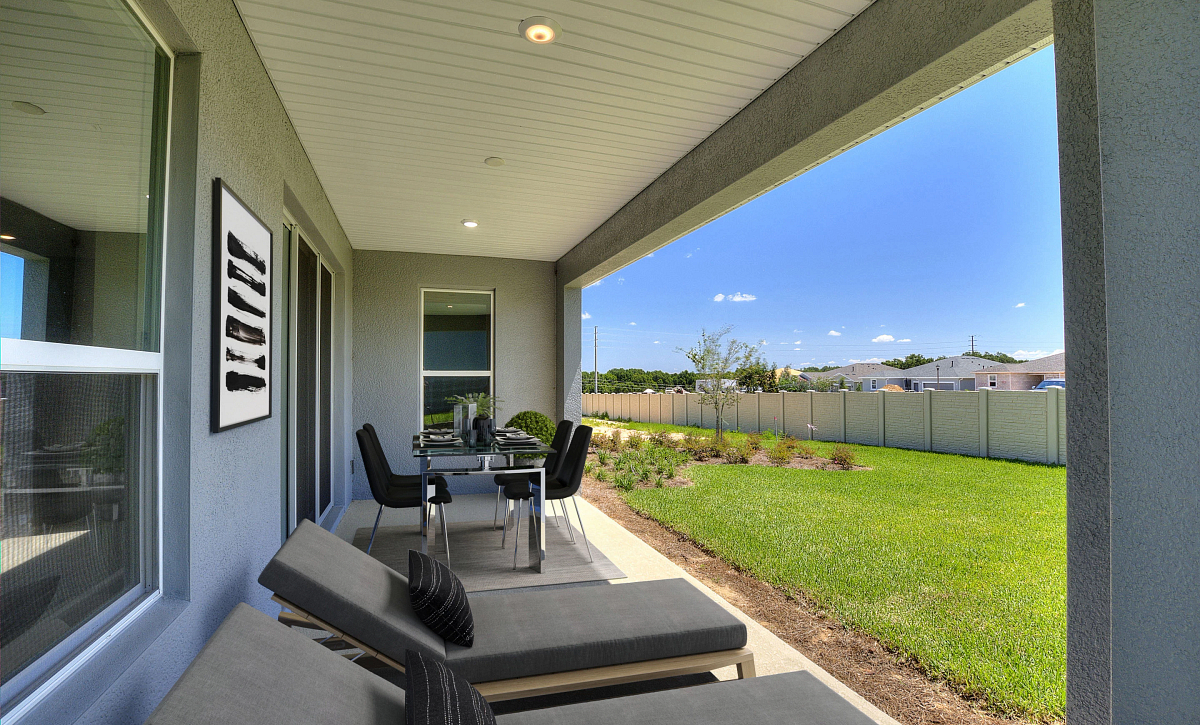Trilogy Orlando Quick Move In Affirm Virtually Staged Covered Lanai