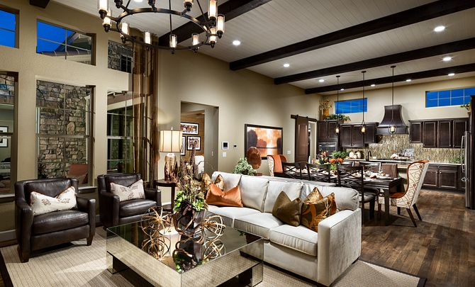 BackCountry Painted Sky Daybreak Great Room and Kitchen