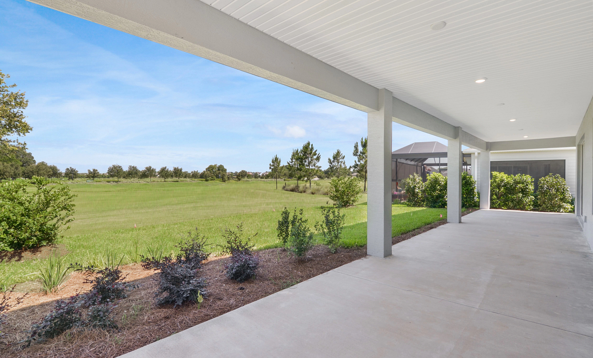 Trilogy at Ocala Preserve Quick Move-In Home Liberty Plan Homesite 163 Covered Lanai