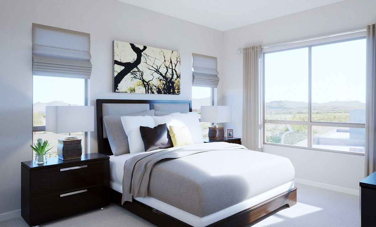 Trilogy Summerlin Summit Master Bedroom Rendering