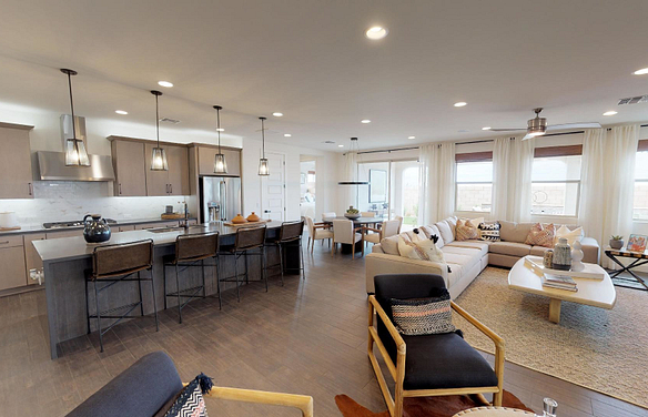 Plan 4024 Great Room Dining Room Kitchen