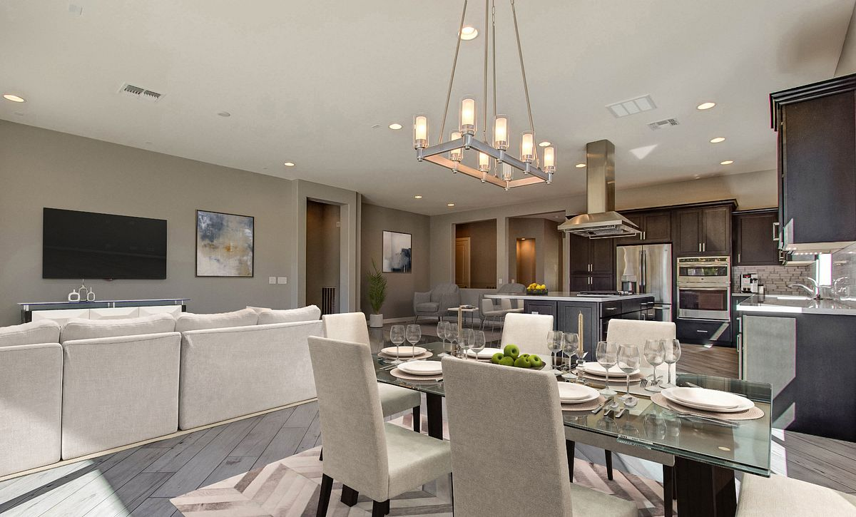 Virtually Rendered Dining Room