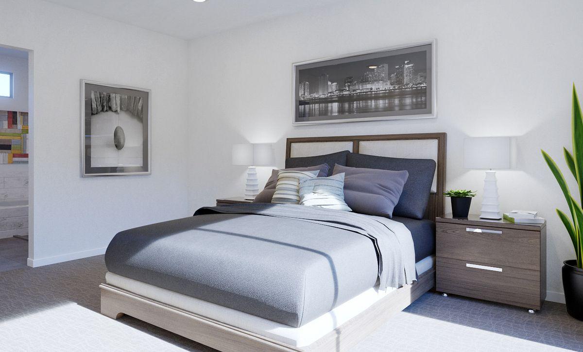 Trilogy Summerlin Luster Master Bedroom Rendering