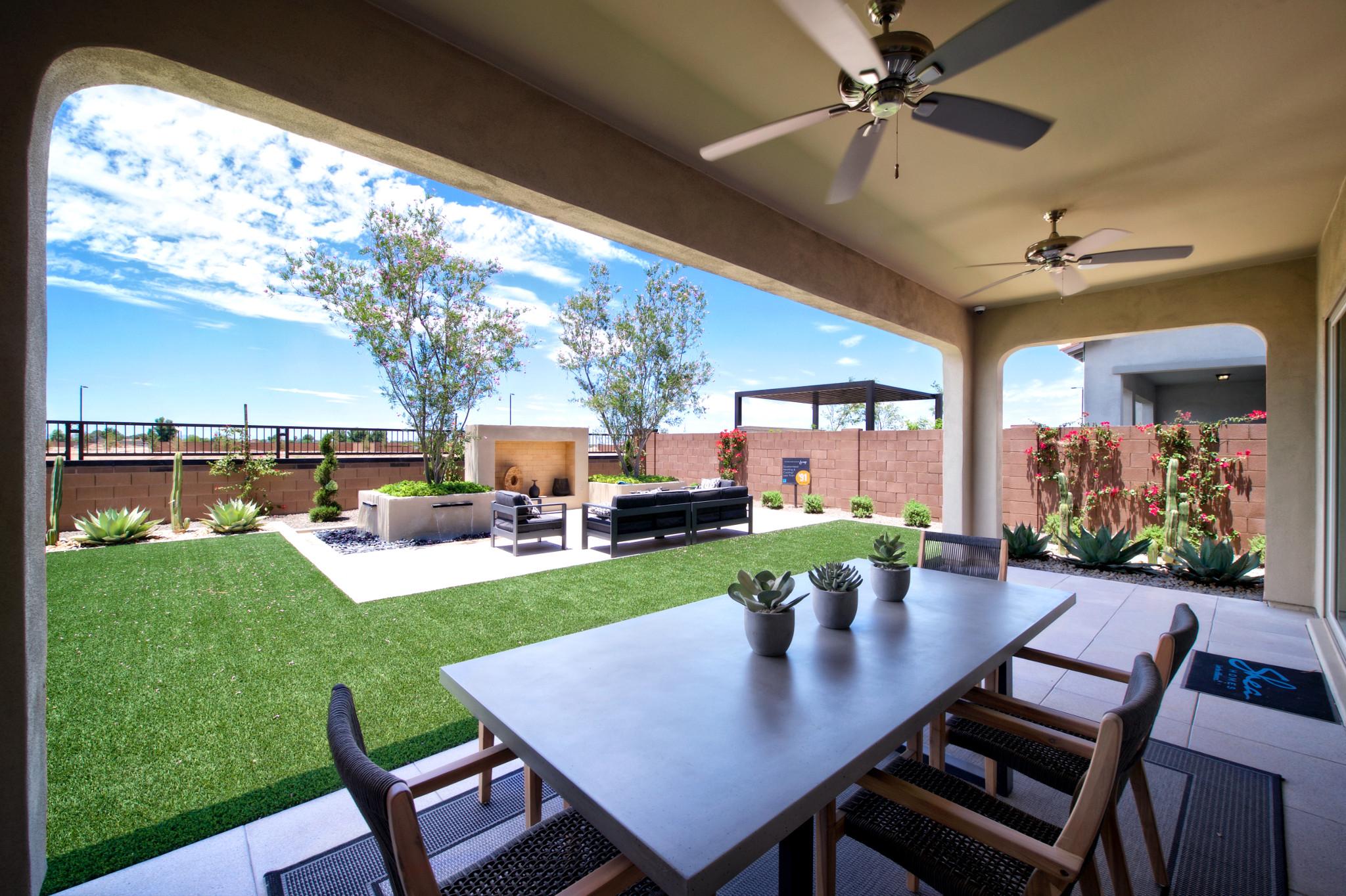 Plan 5013 Backyard