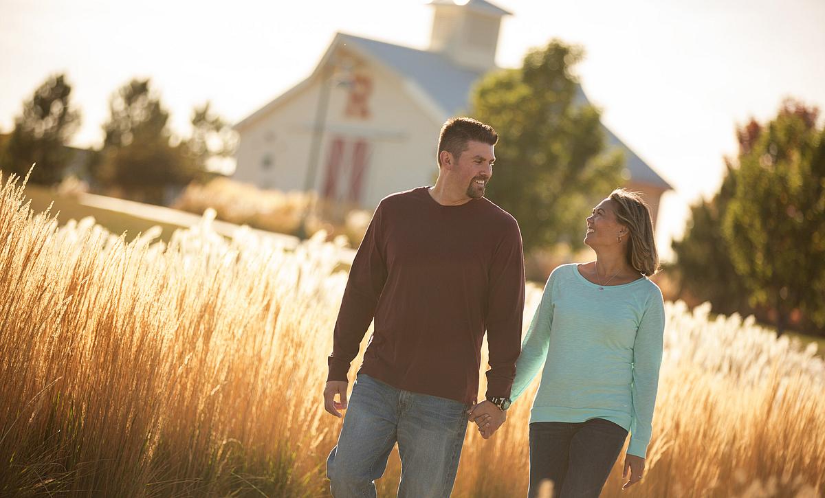 Reunion Community Couple Walking Trails