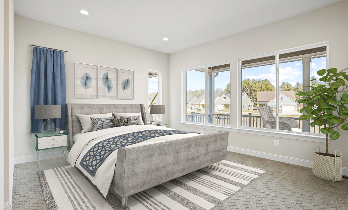 Trilogy at Lake Frederick Virtually Staged Quick Move in Home Owner's Bed