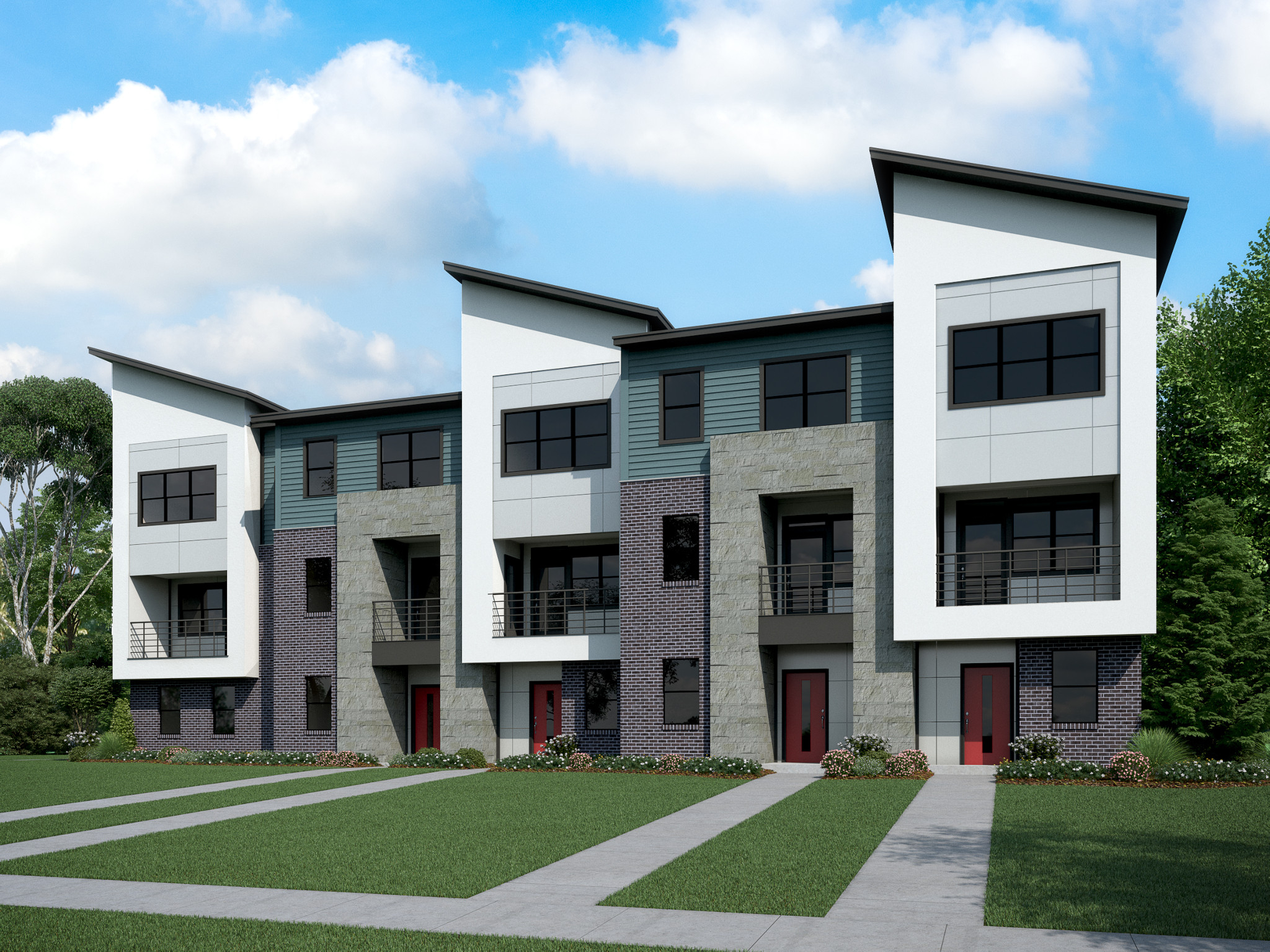 36th & Holt Townhome Exterior