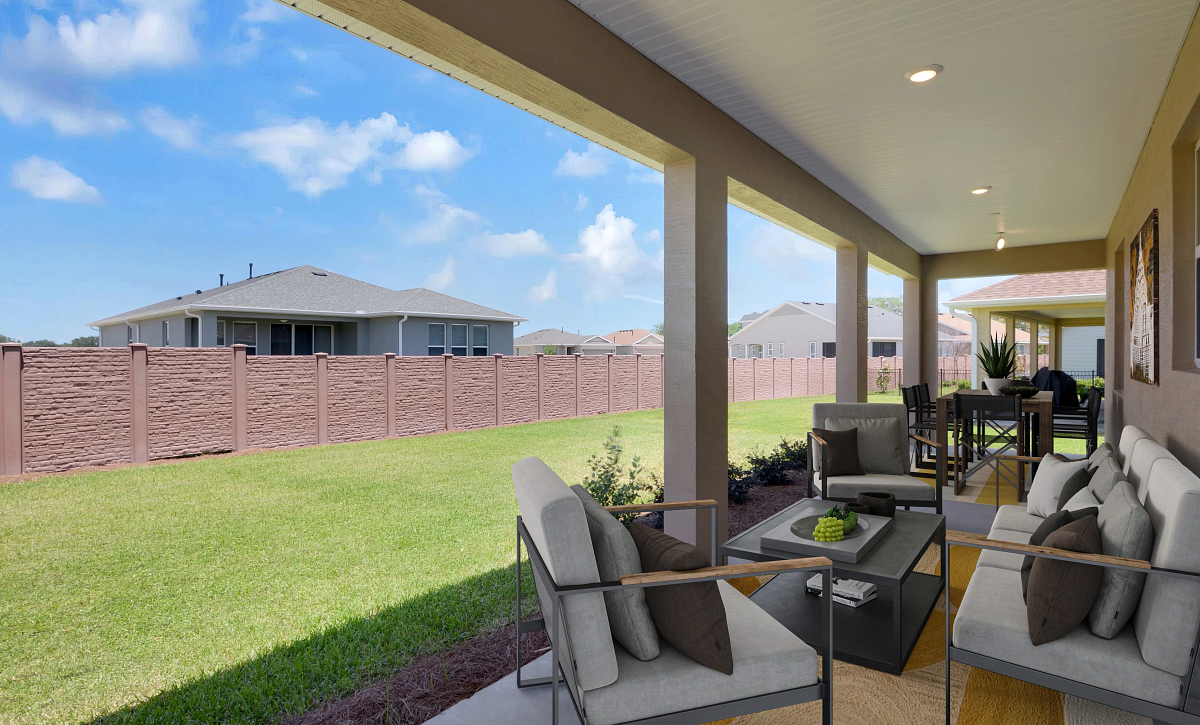 Trilogy at Ocala Preserve Virtually Staged Covered Lanai