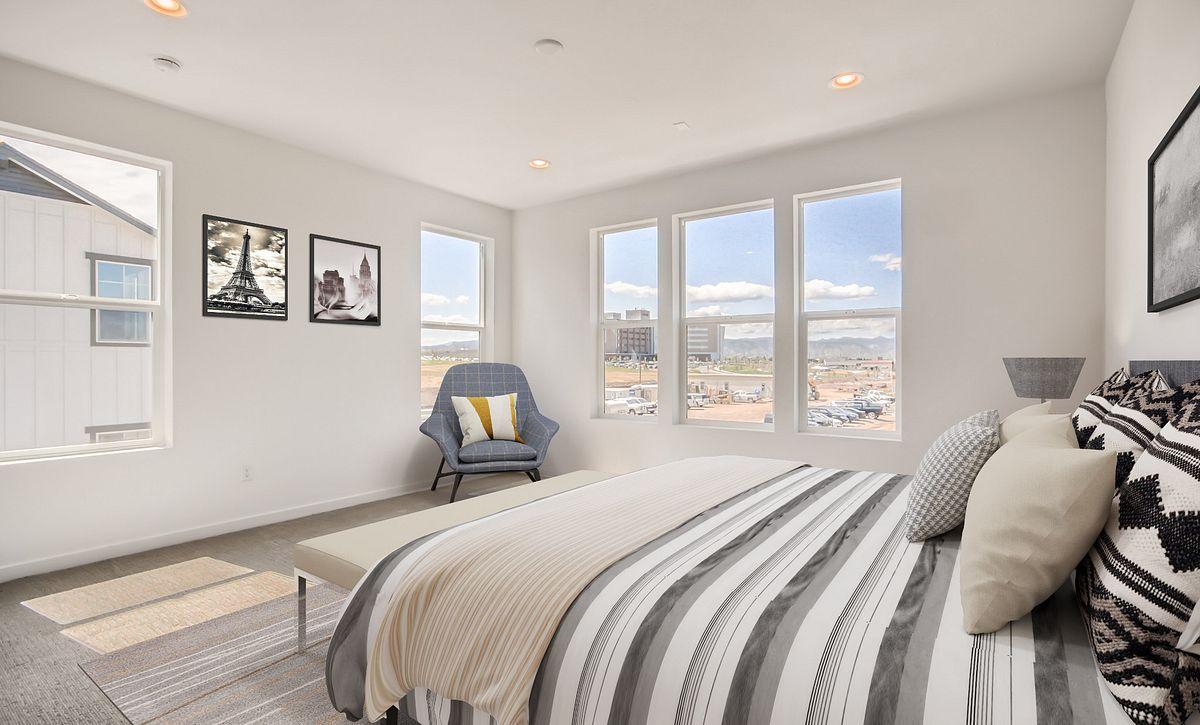Crescendo Central Park QMI Lot 25 Plan 2203 Master Bedroom