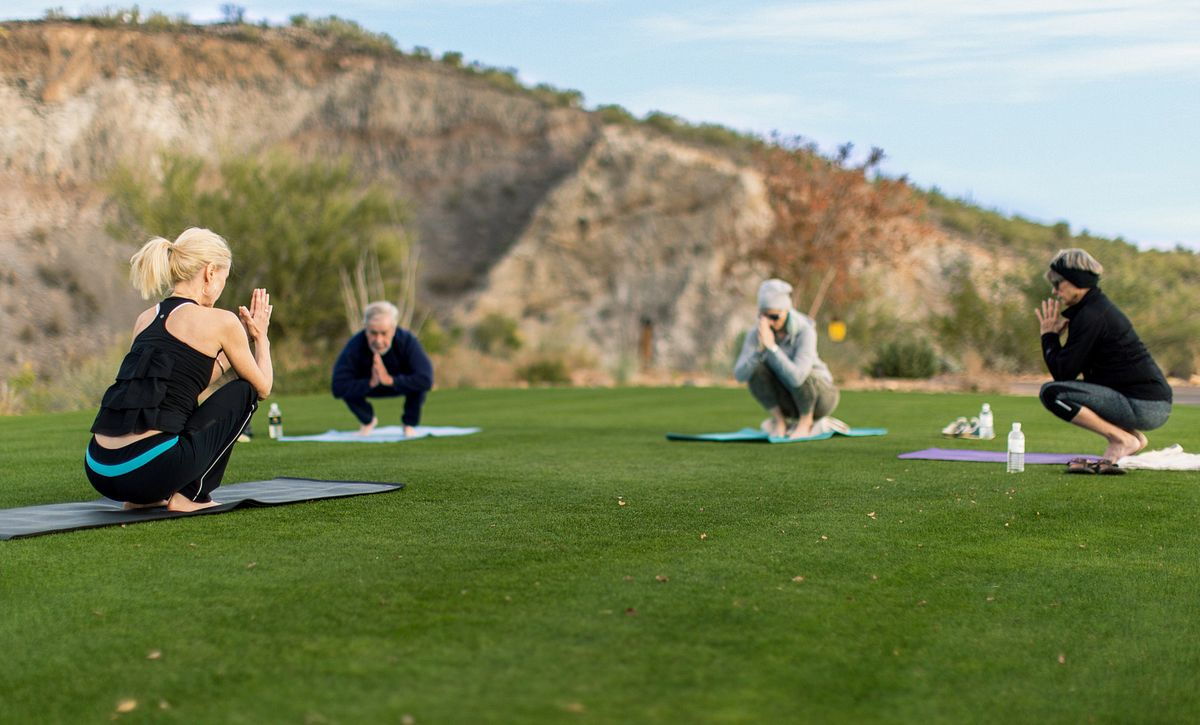 Homeowners at Yoga on the Lawn