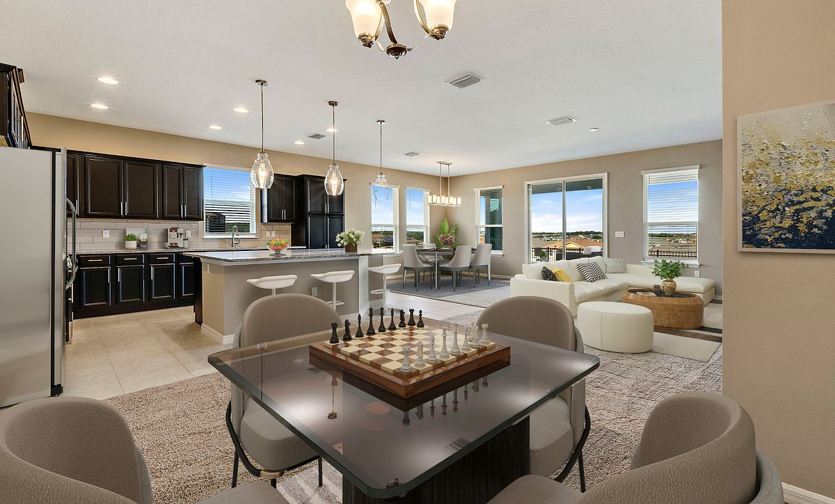 Trilogy Orlando Quick Move In Home Imagine Plan Virtually Staged Great Room