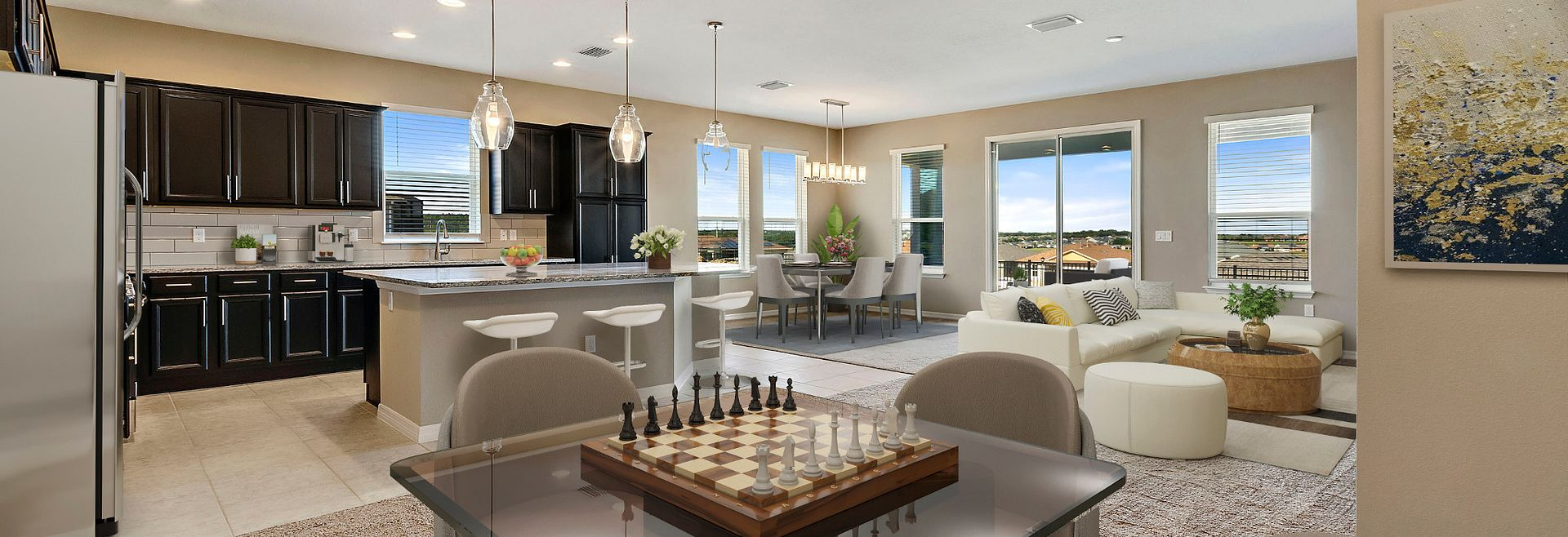 Trilogy Orlando Quick Move In Home Virtually Staged Great Room