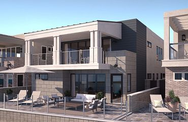 Ocean Place Plan 3A Coastal Exterior Elevation Rendering