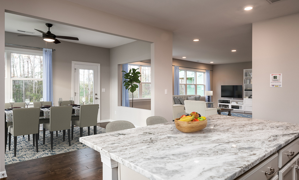 Tensley plan Kitchen with Sunroom option