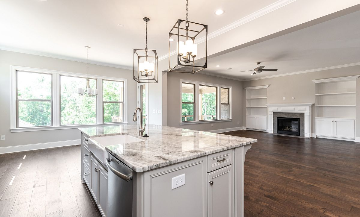 Magnolia plan Kitchen, Breakfast & Family Room