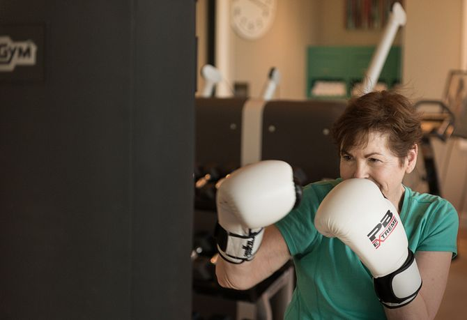 Lady Boxing with Bag