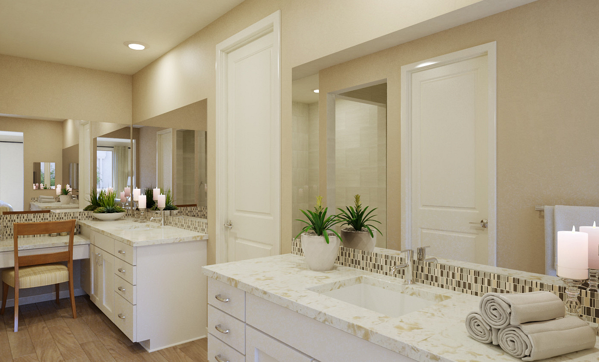 Trilogy Summerlin Explore Master Bath Rendering