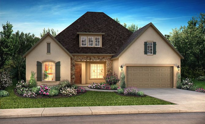 Plan 5118 Elevation C: French Country