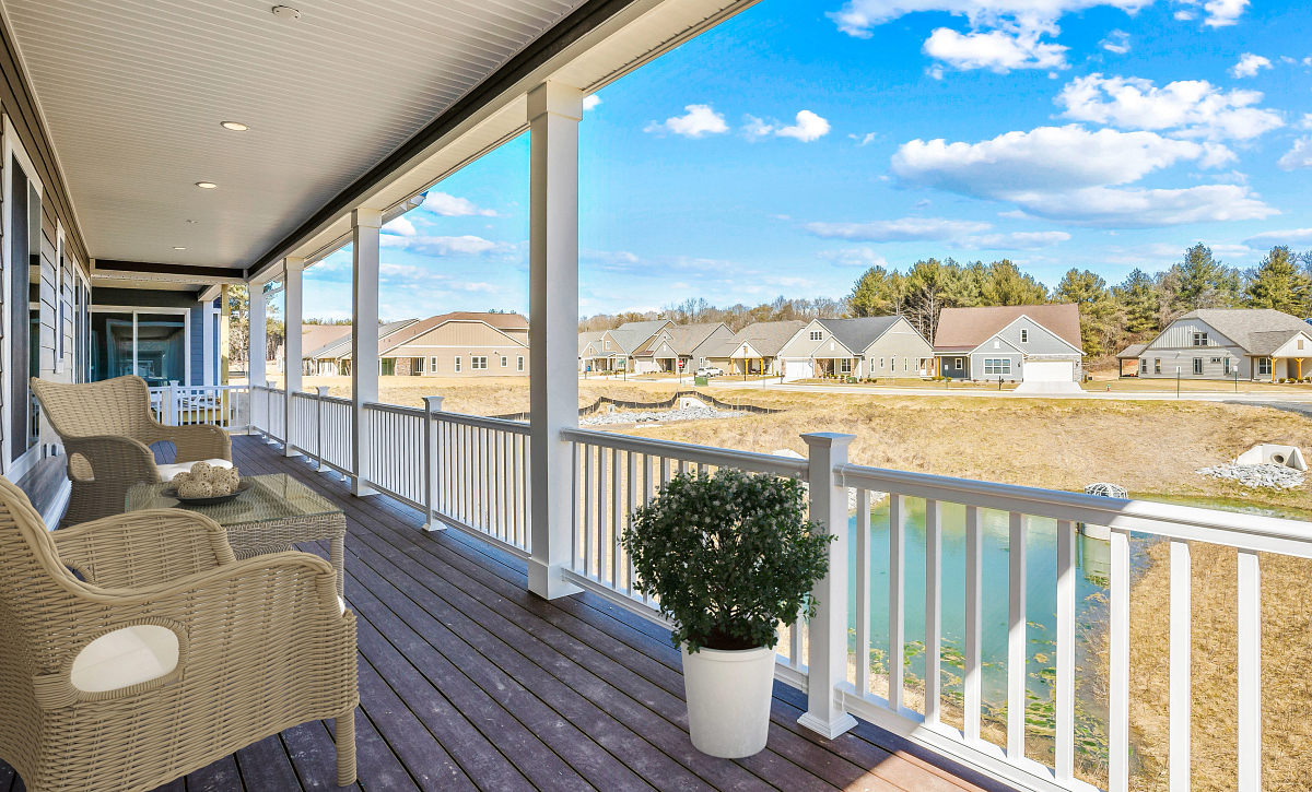 Trilogy at Lake Frederick Virtually Staged Quick Move in Home Covered Patio