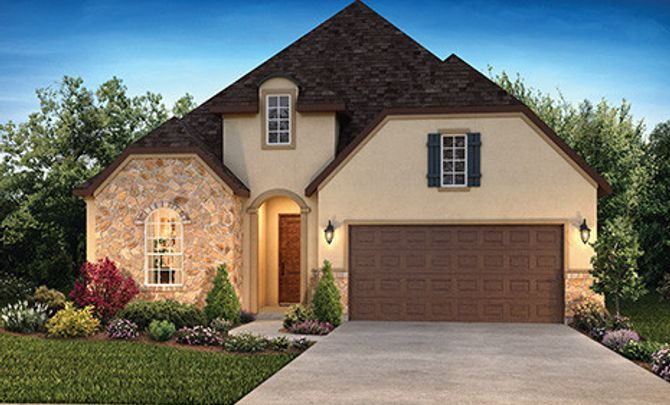 Plan 4132 Elevation C: French Country