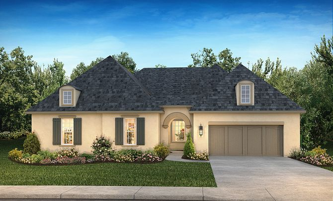 Plan 6020 Exterior B: French Country