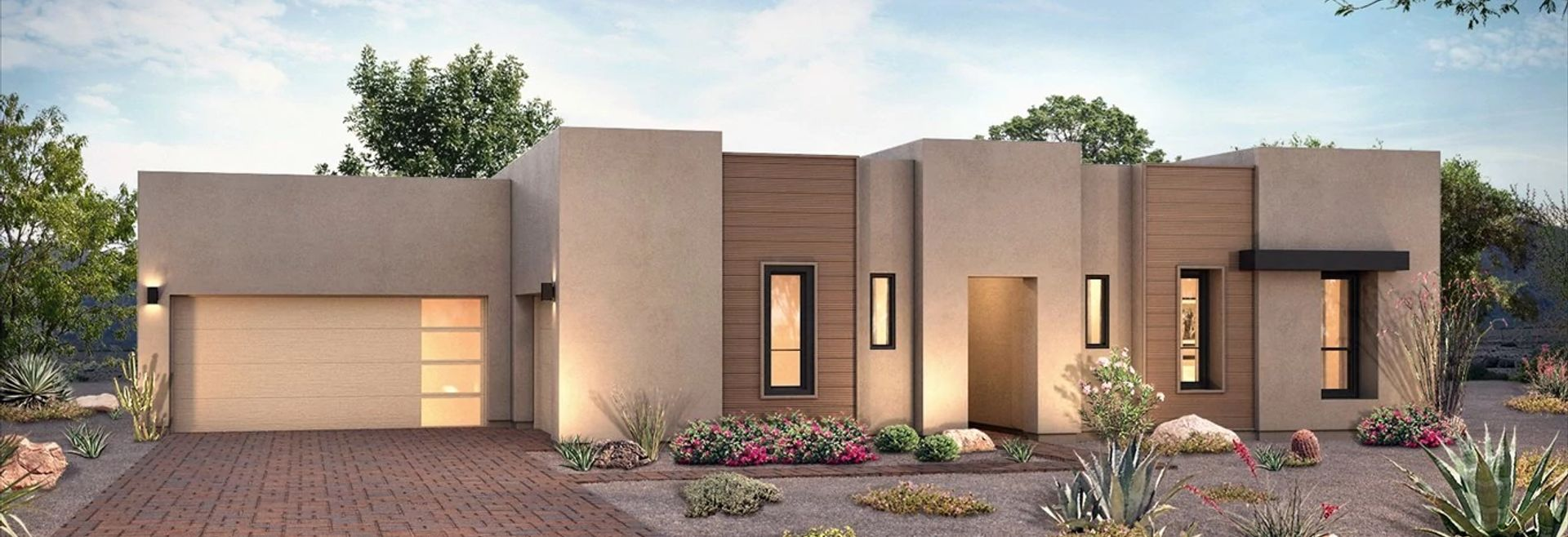 Exterior of Plan 7023 at Prelude at Storyrock in Scottsdale, Arizona