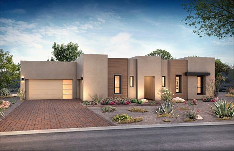 Exterior of Plan 7023 at Prelude at Storyrock by Shea Homes