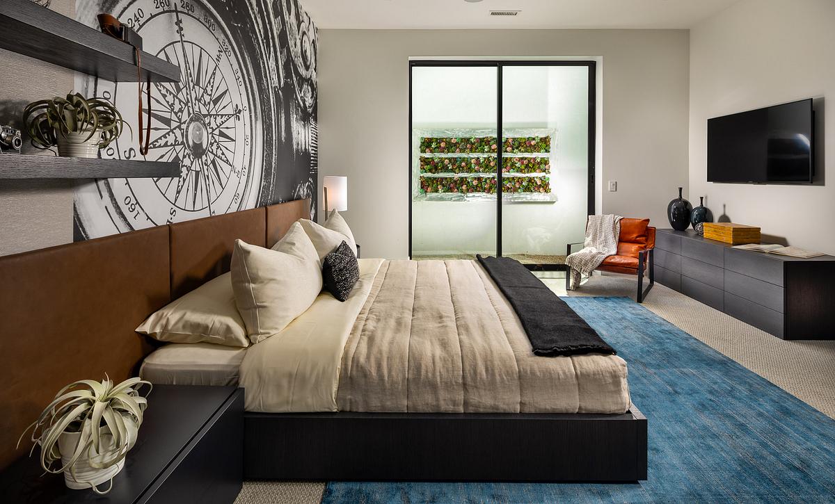 Azure Basement Bedroom