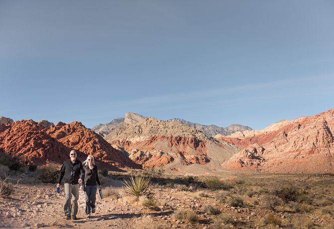 Trilogy Summerlin Homeowners Hiking Red Rock
