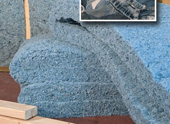 Using old jeans for insulation