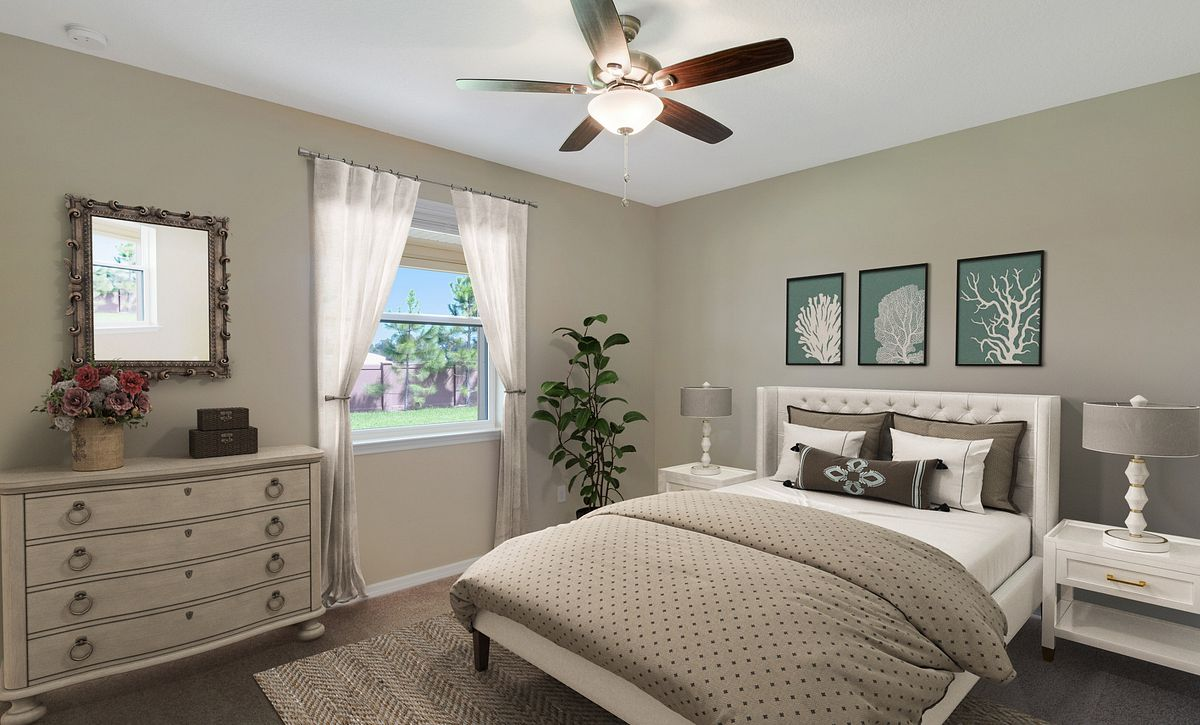 Trilogy at Ocala Preserve Virtually Staged Master Bed