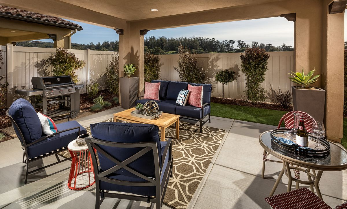 Shea Homes Rice Ranch Verbena Covered Patio