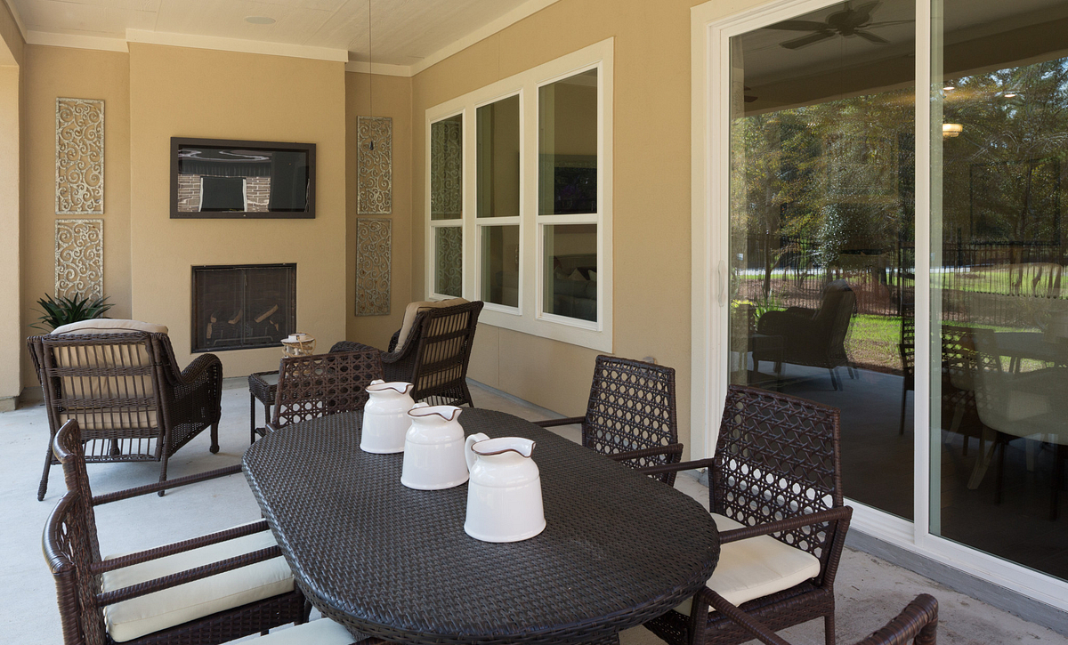 Plan 4117 Outdoor Living modeled in Harmony