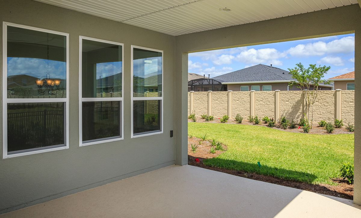 Trilogy Orlando Quick Move In Home Larkspur Covered Lanai