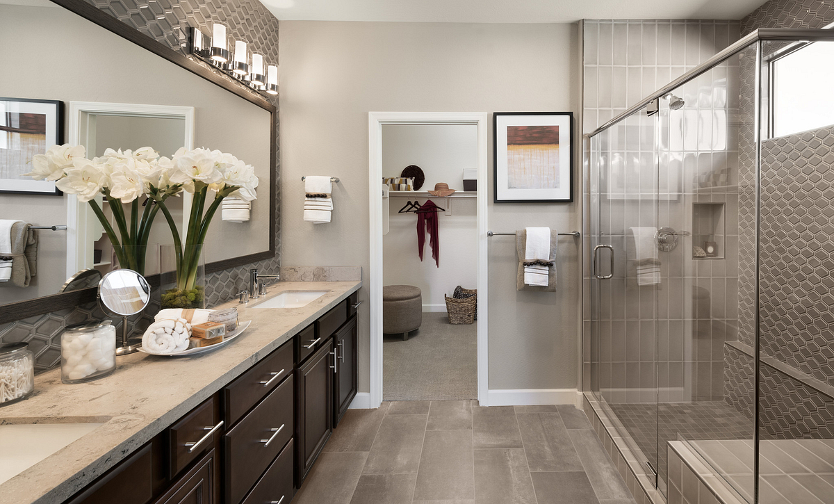 Mosaic Model Master Bathroom