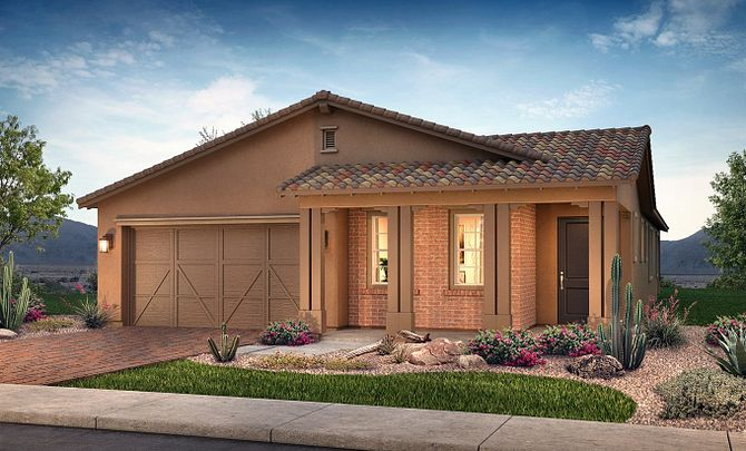 Plan 4012 Exterior B: Adobe Ranch