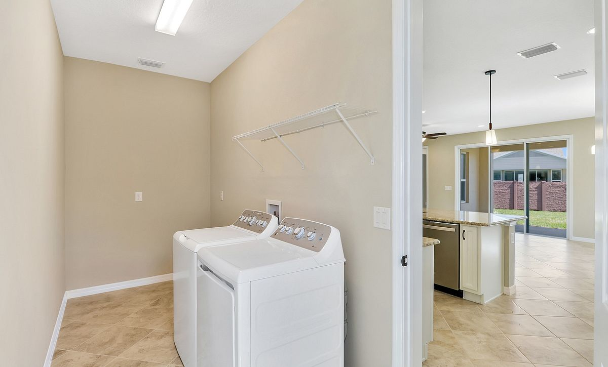 Trilogy at Ocala Preserve Quick Move In Home Affirm Plan Laundry
