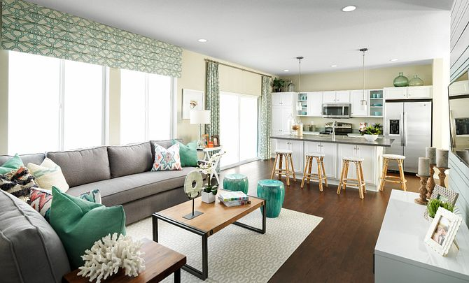 SPACES Reunion Plan 3554 Great Room and Kitchen