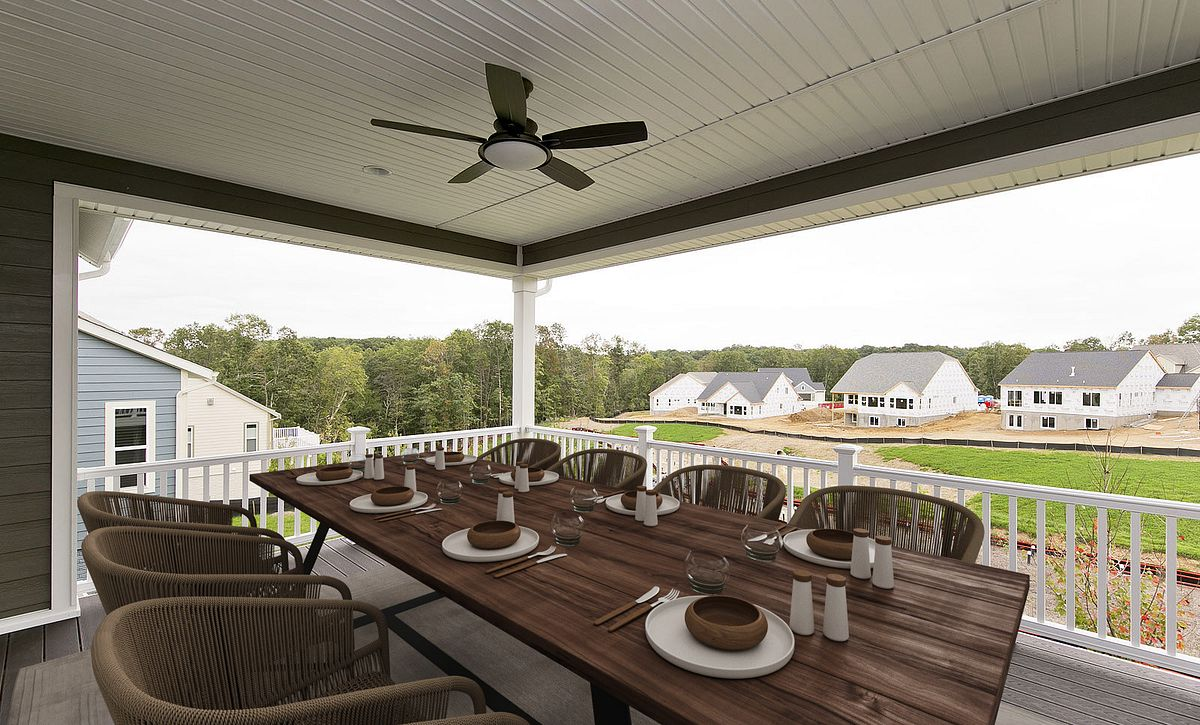 Virtually Staged Hensley Plan Deck