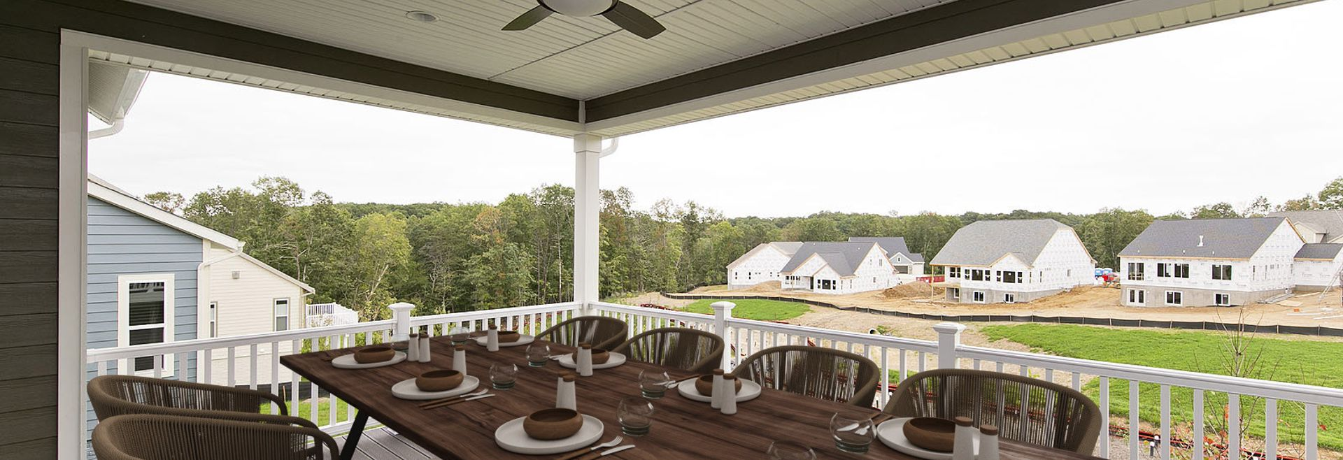 Trilogy at Lake Frederick Quick move In home Hensely Plan Virtually Staged  Covered Patio